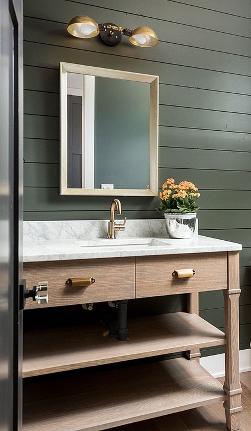 Wooden Vanity In Dark Green Bathroom Natural Timber In Interiors First Sense Dark Green Bathrooms Green Bathroom Wooden Vanity [ 1712 x 1000 Pixel ]