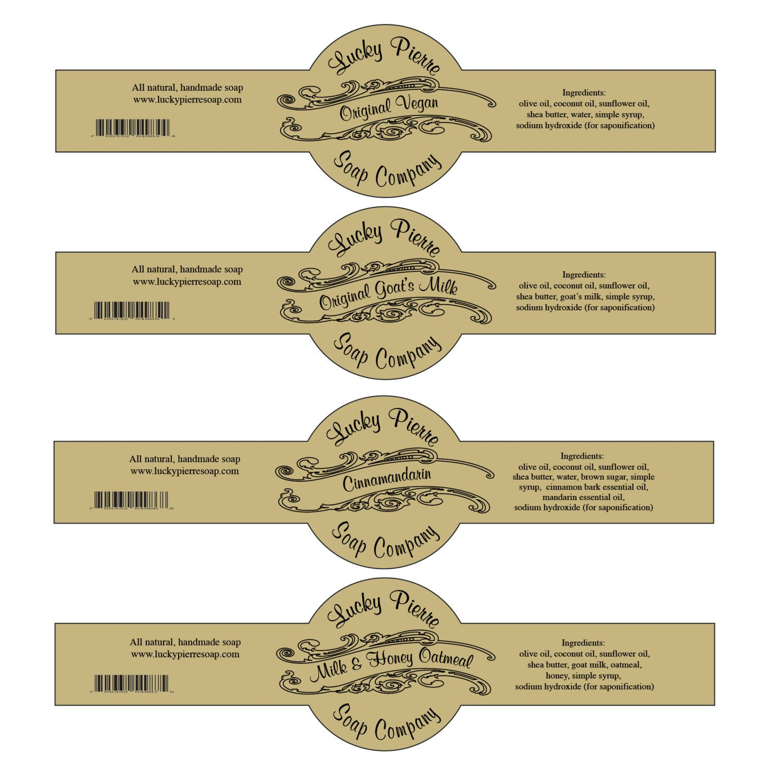 Free Printable Cigar Band Soap Label Template Soap