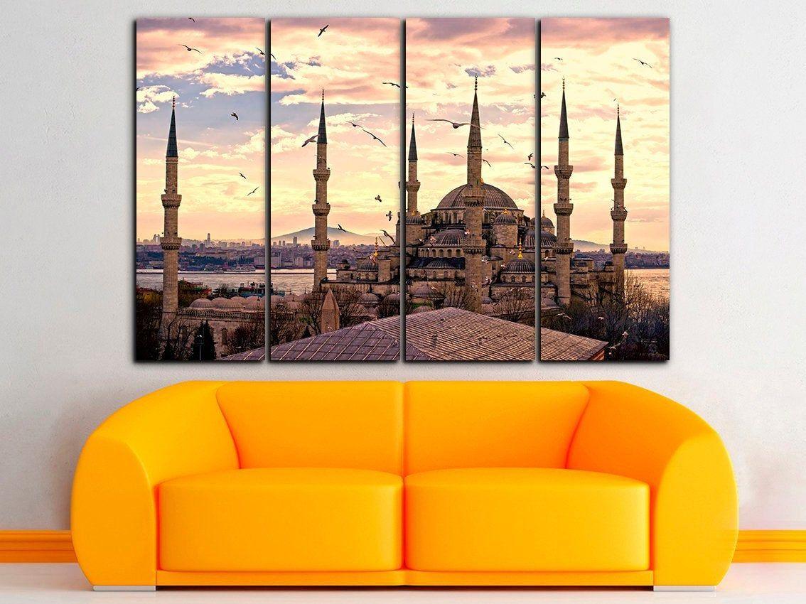 Istanbul Canvas Street Map Print Istanbul Wall Art Turkey Art Decor Turkey Canvas City Canvas Art Turkey Print Tr Cities Canvas City Canvas Art World Map Decor