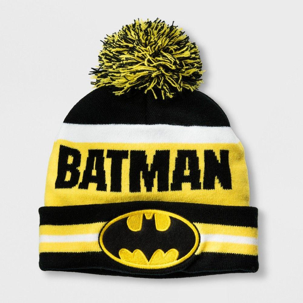 2c51faba63a Boys  DC Comics Batman Cuffed Pom Beanie - Black One Size
