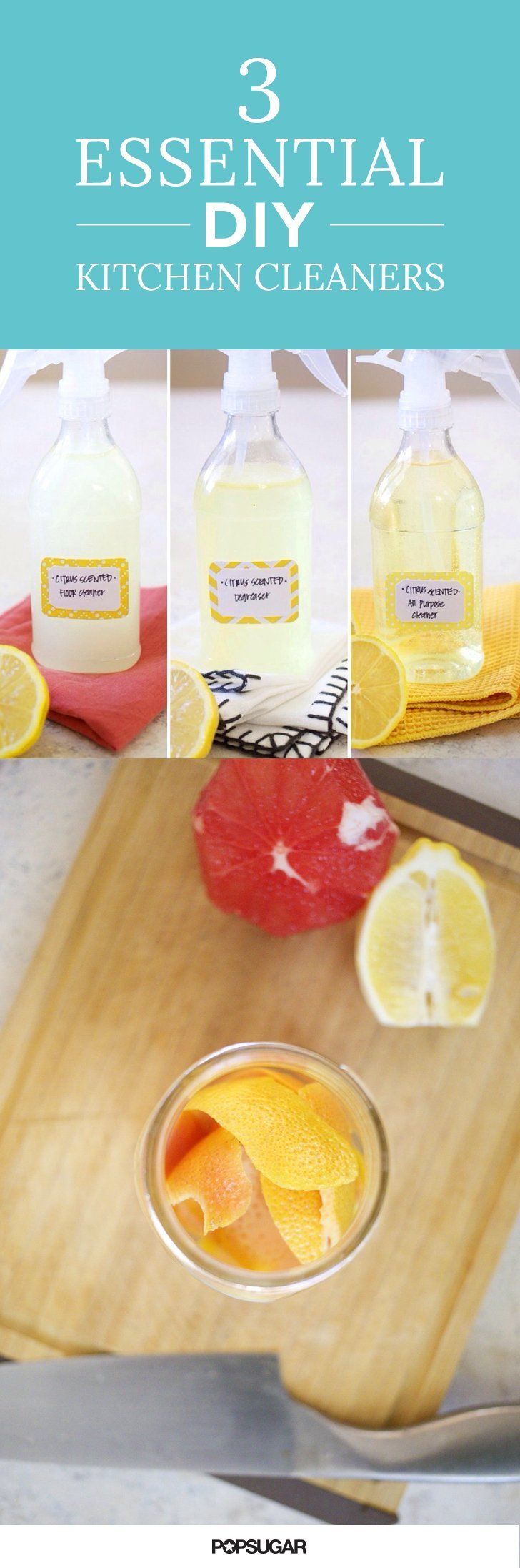 essential diy cleaners that will make your kitchen sparkle hack