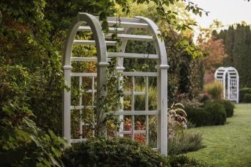 Classic White Garden Arbor.