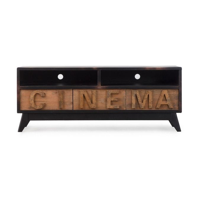 Meuble Tv Mdf Cinema 2 Niches 3 Tiroirs Dn67 Taille Taille
