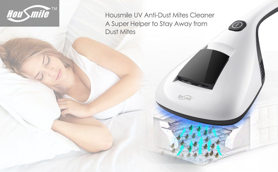 Housmile Anti Dust Mites Uv Vacuum Cleaner With Advanced Hepa Filtration And Double Ful Suctions Eliminates Bed Bugs Al