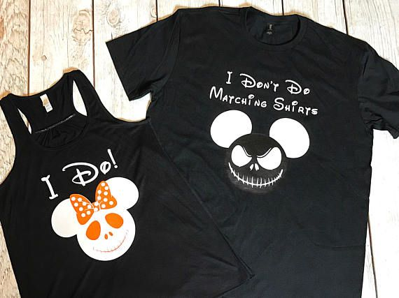 78df4d532 I Don't Do Matching Shirt Set, Disney Shirts, Jack Skellington, Sally, I  Do!, Vacation Shirts, Husband Wife, Nightmare Before Christmas