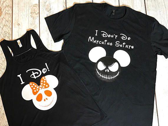 78df4d532 I Don't Do Matching Shirt Set, Disney Shirts, Jack Skellington, Sally, I  Do!, Vacation Shirts, Husband Wife, Nightmare Before Christmas