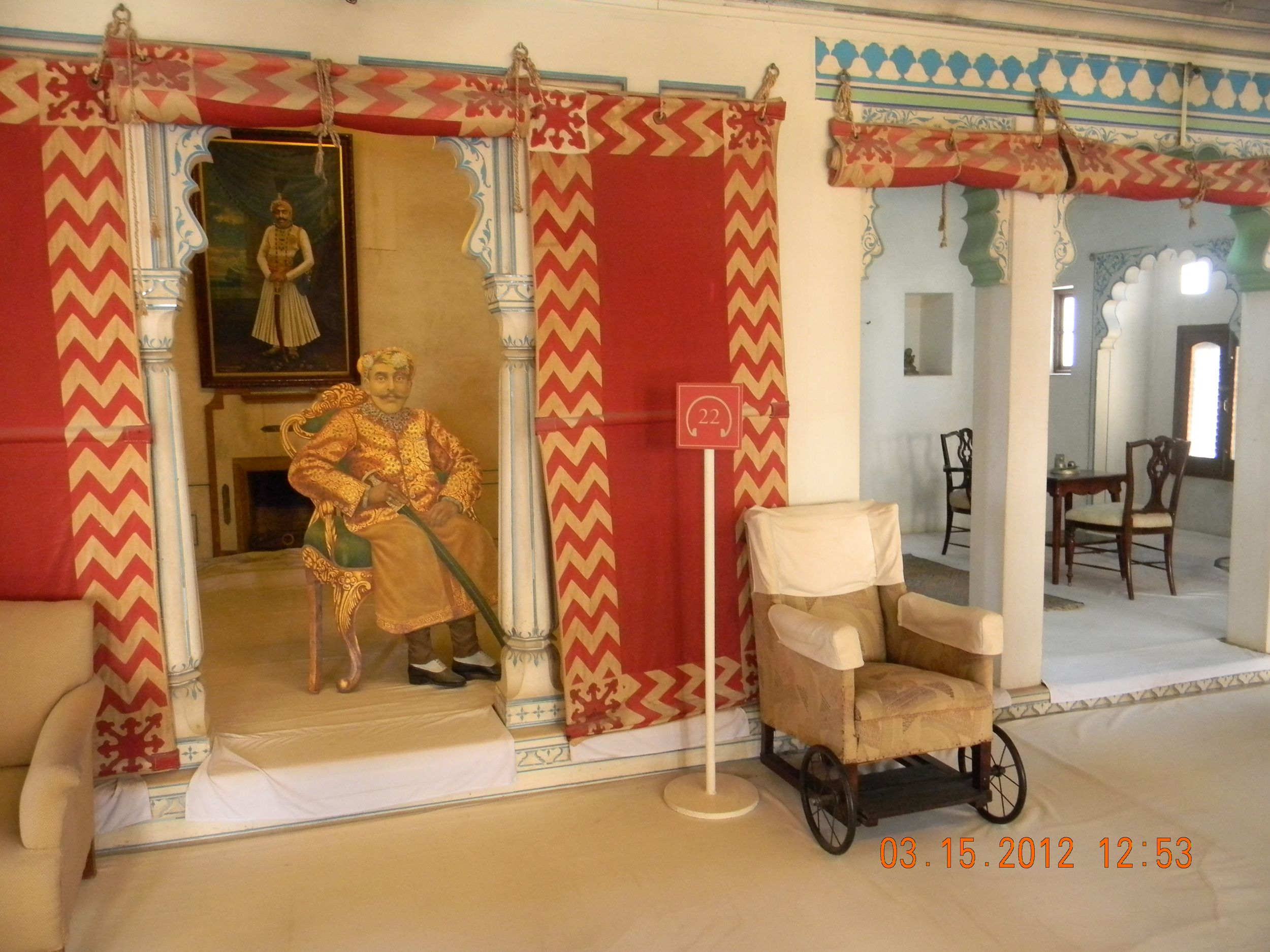 Inside view of City Palace @ Udaipur in Rajasthan