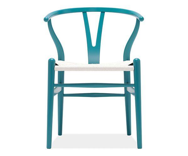 Hans Wegner Turquoise Wishbone Chair