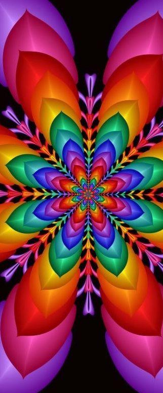 Rosa Dos Ventos Fractais Arte Colorida E Cores Vibrantes