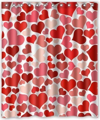 Celebrate Valentine S Day Hearts Shower Curtain Curtains