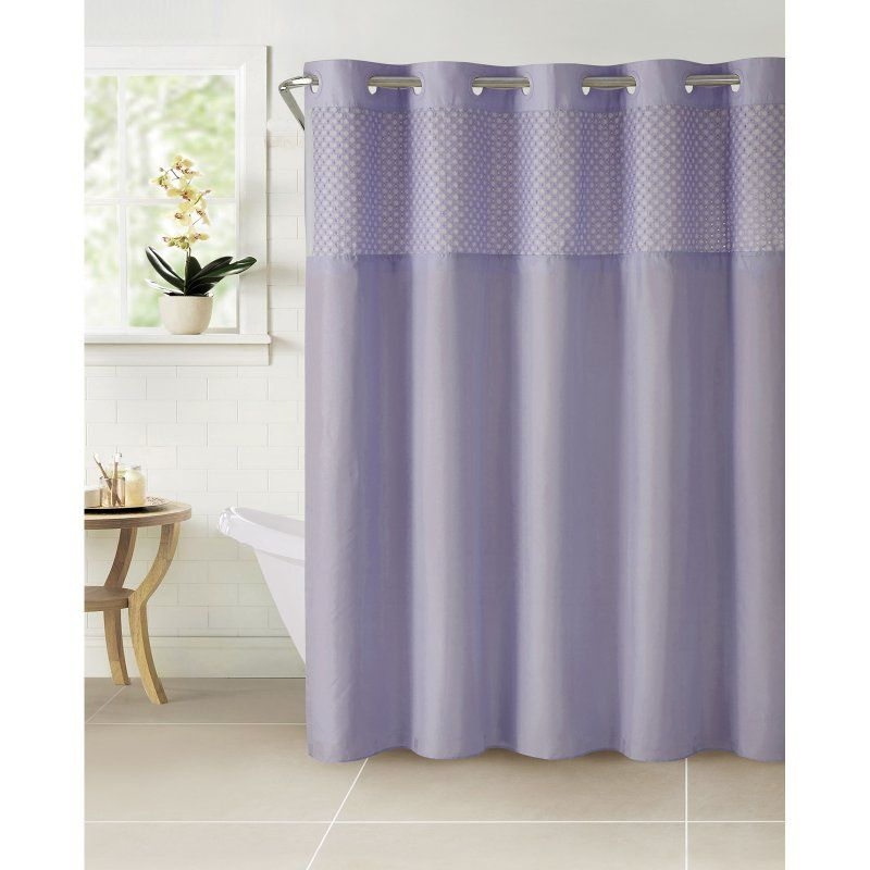 Hookless Bahamas Eyelet Polyester Shower Curtain Sf47322