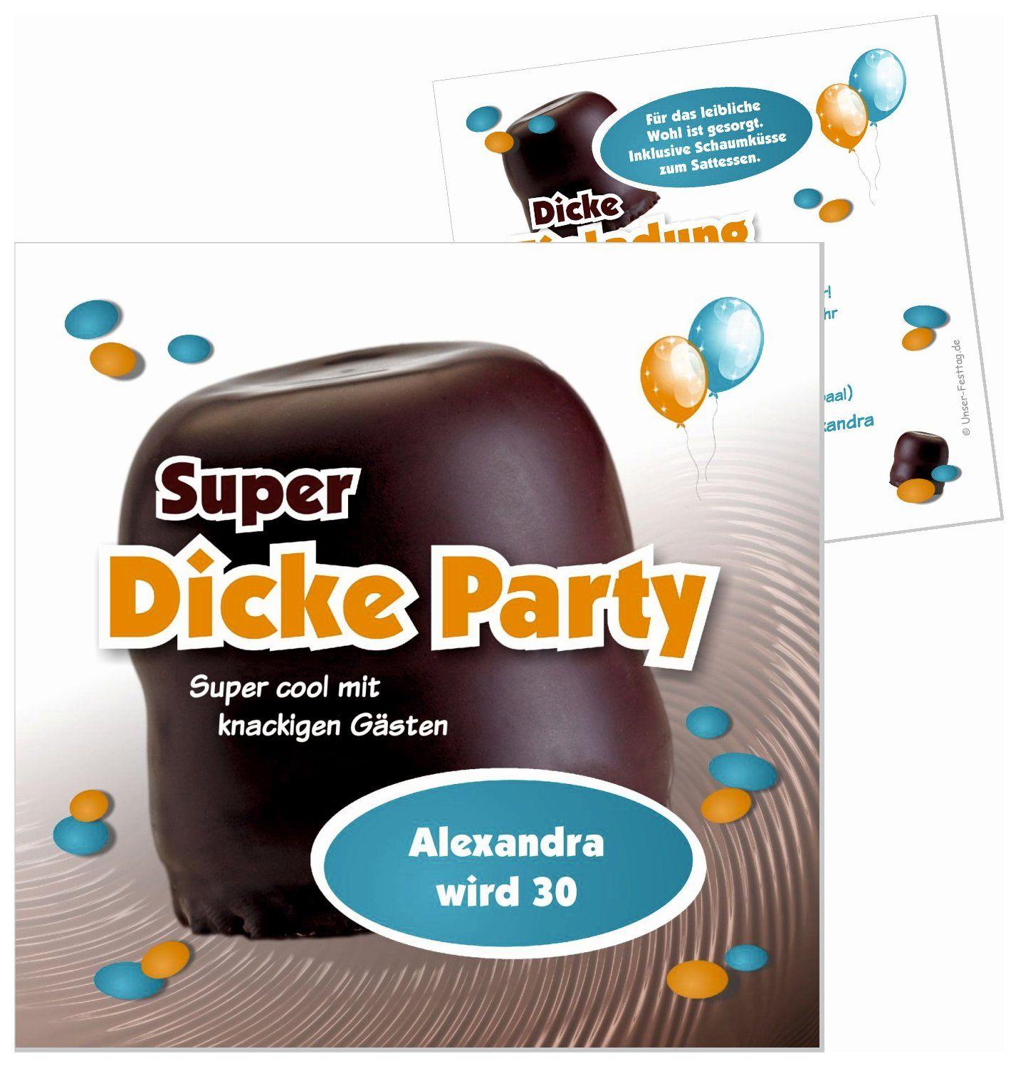 lustige Einladungskarte zum Geburtstag Schaumkuss witzig in JEDES ALTER ändern