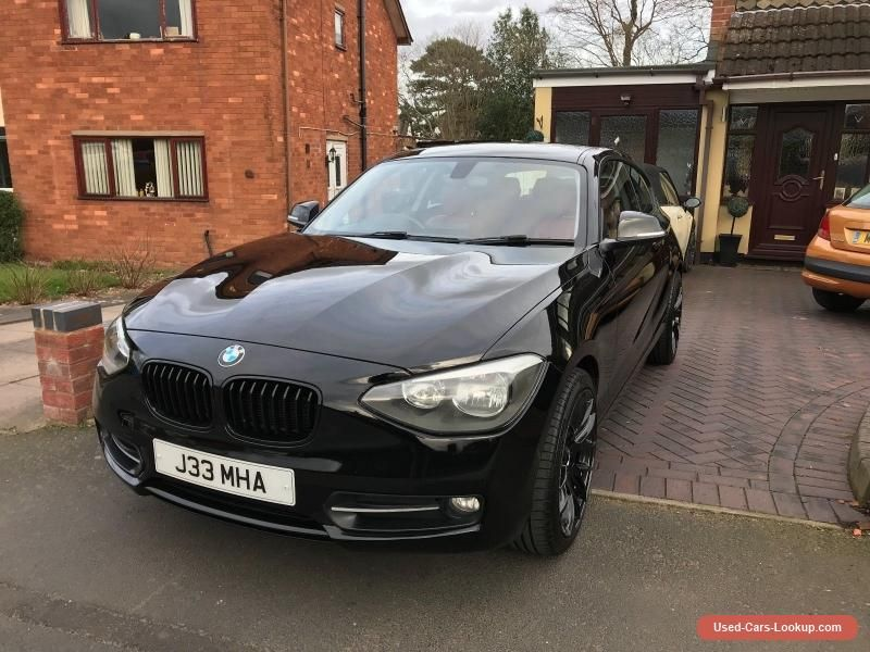 Bmw 1 Series 116d Sport Black Automatic Diesel 2012 Red Leather