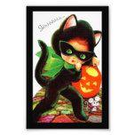 A Girl in Kitty Costume Photo Print #halloween #happyhalloween #halloweenparty #halloweenmakeup #halloweencostume