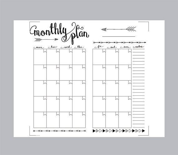 Pin by Deanna Aldridge on Bullet Journaling Pinterest Bullet - printable monthly planner