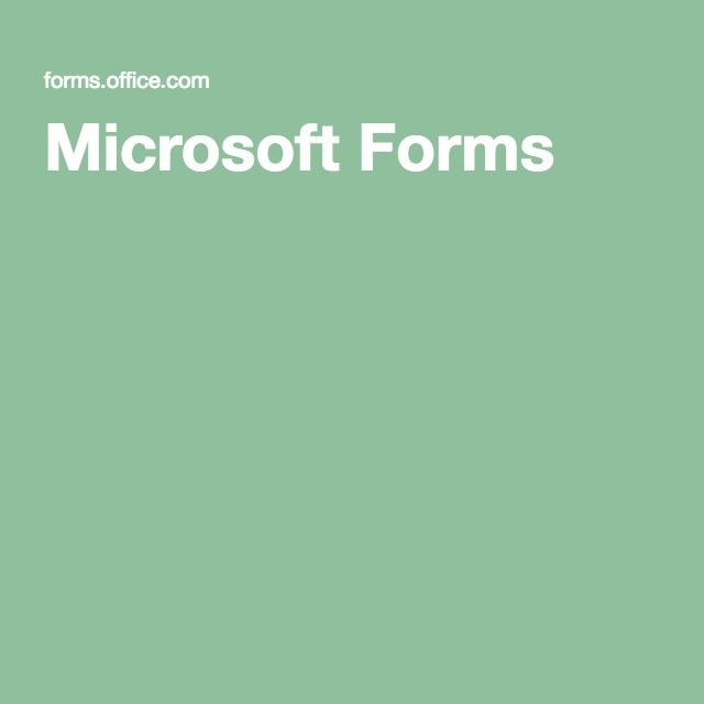 microsoft forms office 365
