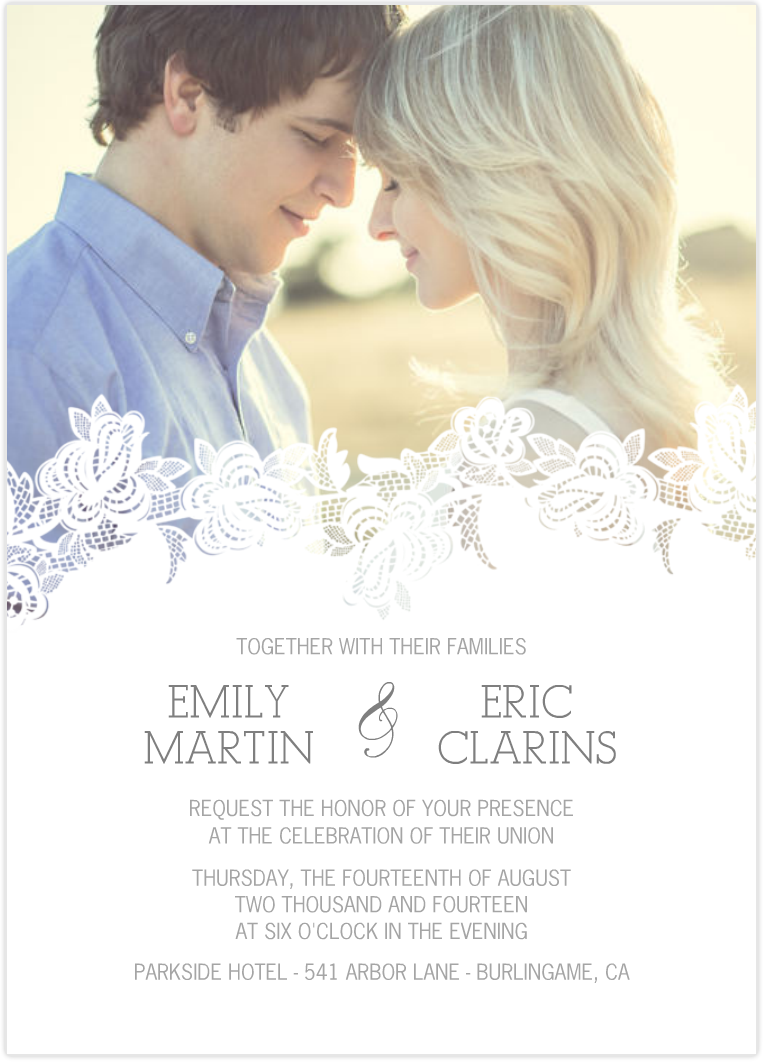 Delicate Overlay | Photo wedding invitations, Wedding and Invitation ...