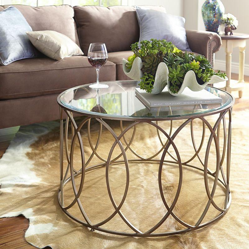 Elana Round Coffee Table Bronze Pier 1 Imports Mesa De