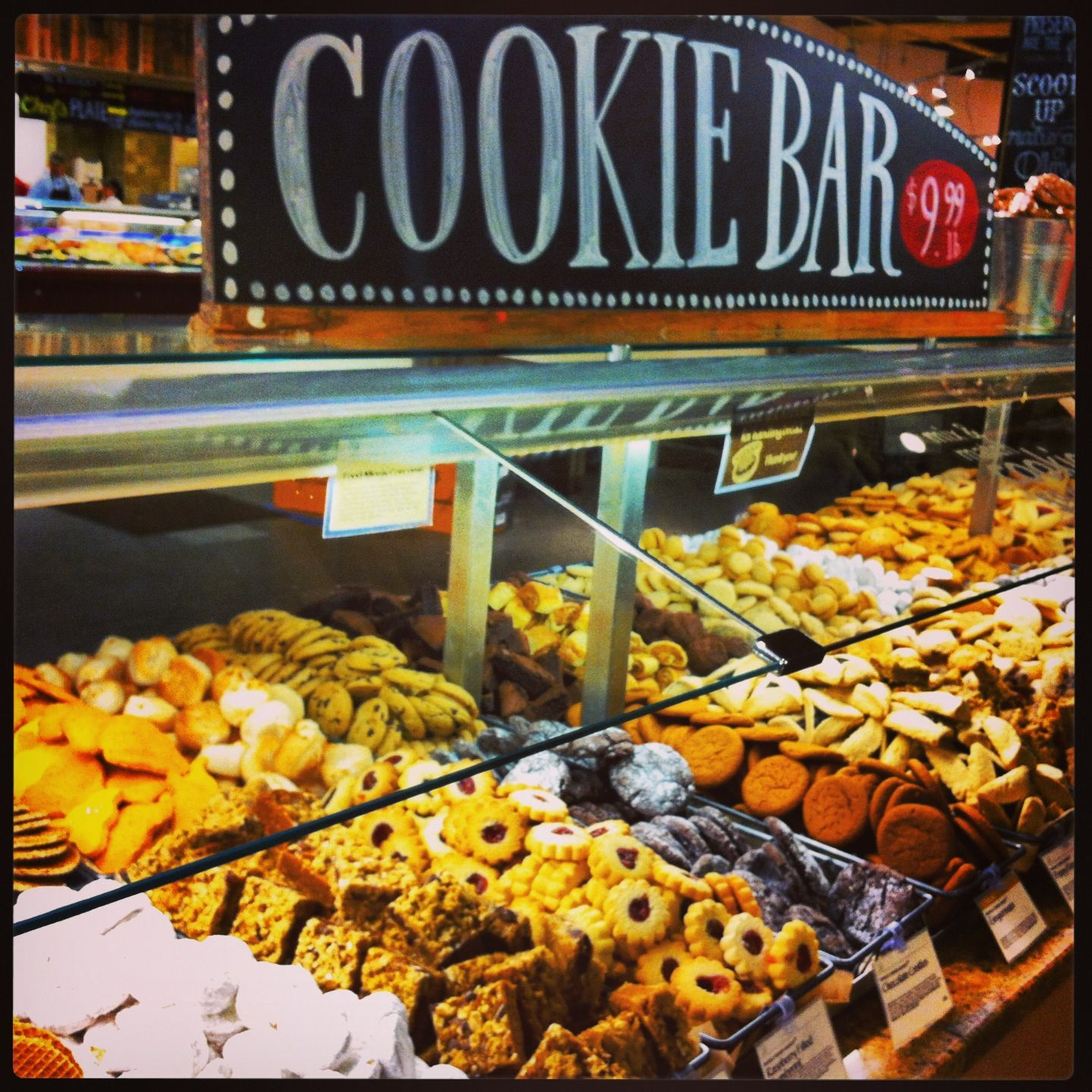 Cookie bar at whole foods in downtown austin dessert