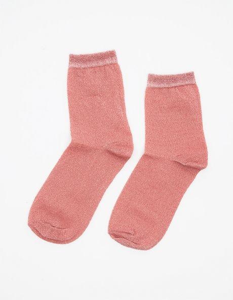 ++ fine glitter ankle socks