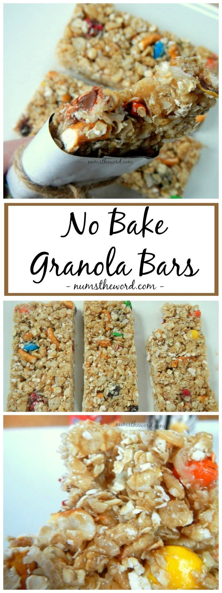 Looking for a healthy and easy after school snack? Check out these easy No Bake Granola Bars that can be customized to your favorite flavors! Kid approved!