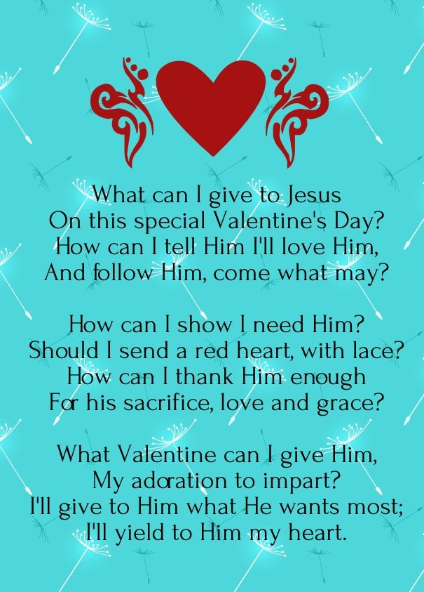 Christian valentine poems but god pinterest poem for Inspirational valentine crafts