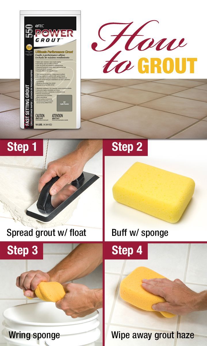 A step by step guide with special tips and tricks for grouting learn how to grout a tile floor from this guide on how to tile a floor from tec skill set grouting tile floor can be difficult but our guide makes it dailygadgetfo Gallery