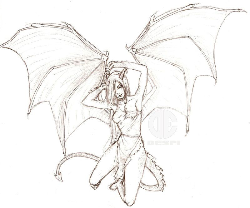 Aleara The Human Dragon By Delespi On Deviantart Wings Drawing Art Winged People