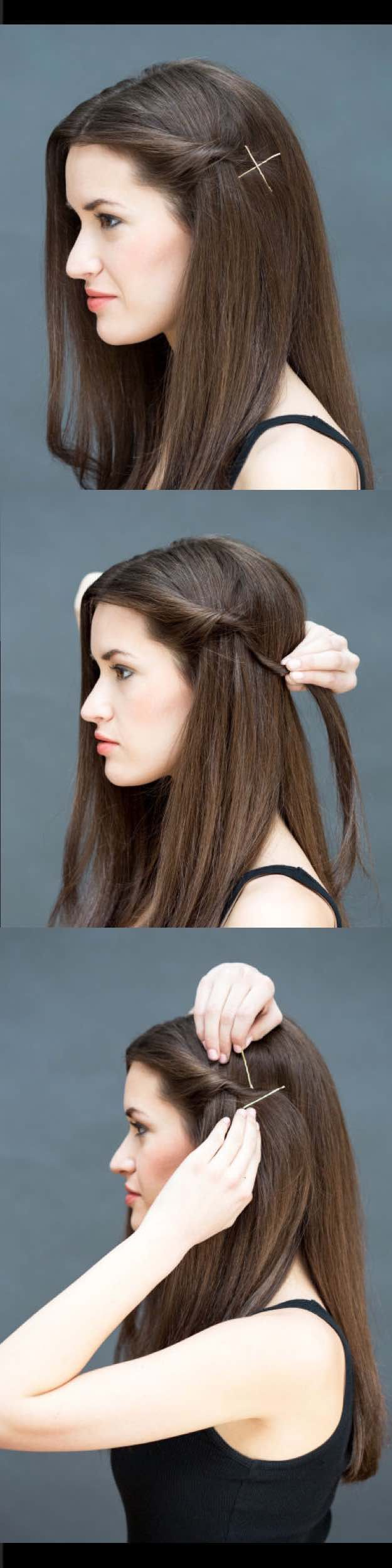 Quick and Easy Hairstyles for Straight Hair - The Twist-and-Pin - Popular Haircuts and Simple ...