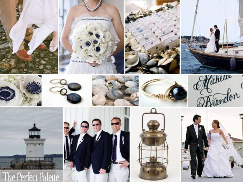 A Seaside Wedding Navy Blue White Imagine Sailboats