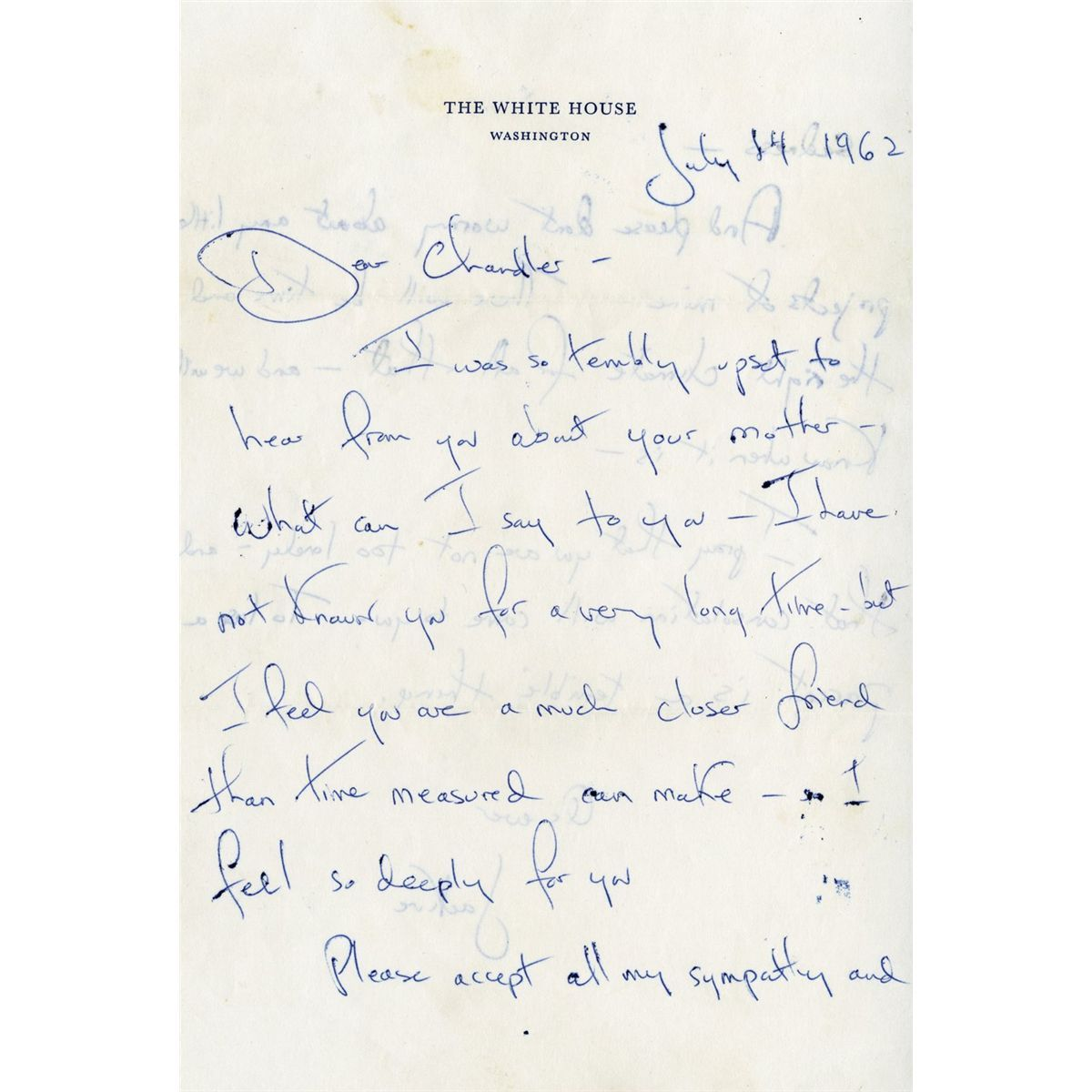 Jacqueline Kennedy Autograph Letter Signed As First Lady