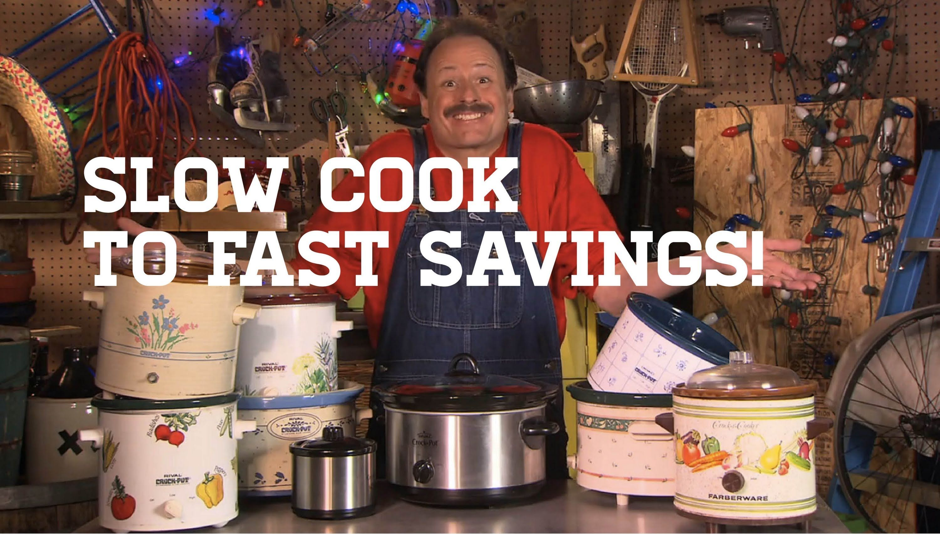 Crock Pot Crazed — The Cheap Life with Jeff Yeager, via YouTube.