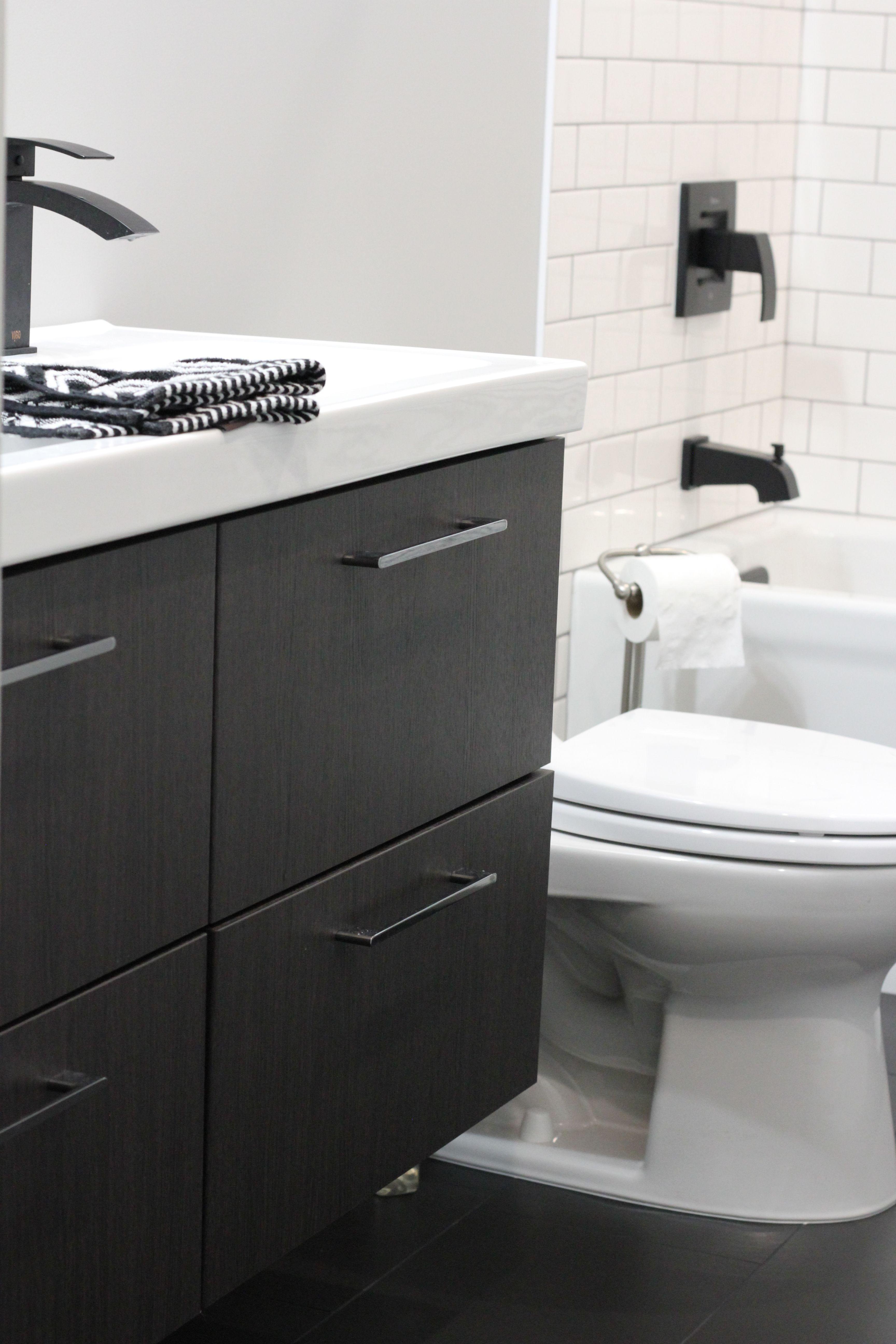 Home decor, bathroom remodel, White subway tile, delorean gray grout ...