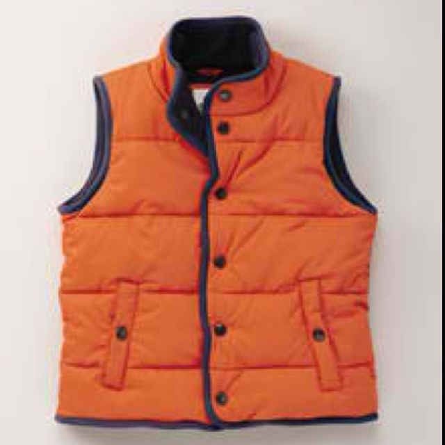 Reversible Warm Orange Excellent  Padded Gilet by Mini Boden
