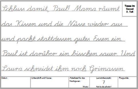lateinische ausgangsschrift übungen zum