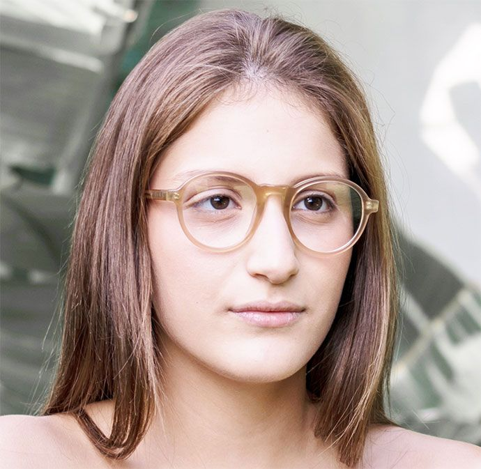 c87a3d57cc4 Pure Nude color for these Vintage-styled Hipster Glasses