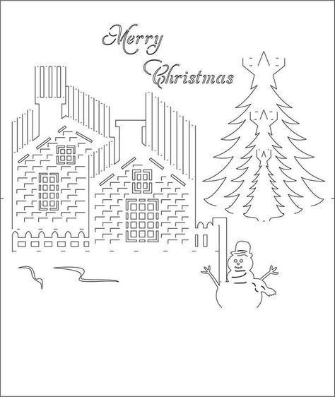 Kirigami Template Google Zoeken Kirigami Templates Pop Up Christmas Cards Kirigami Patterns