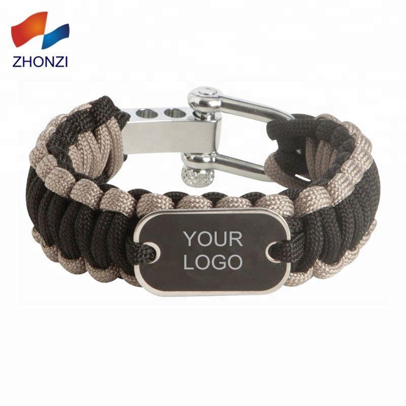 Alibaba Com Zinc Alloy Shackle Custom Logo 550 Paracord Bracelet
