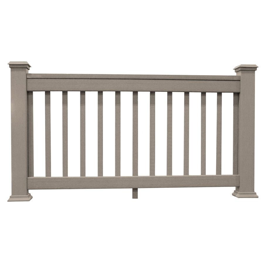 Best Shop Choicedek Beach House Gray Composite Deck Railing Common 2 In X 4 In X 6 Ft Actual 1 400 x 300