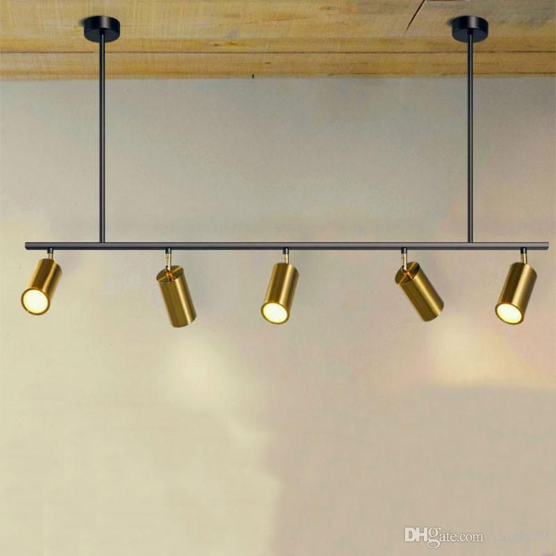 Nordic Rotating Led Spotlights 5 7 Heads Led Lamps Suspension For Showroom Clothing Store Gold Contemporary Pendant Lamps Led Spotlight Industrial Lamp Shade