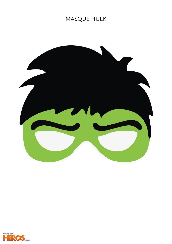 Anniversaire Avengers Masque Hulk à Imprimer Deguisement