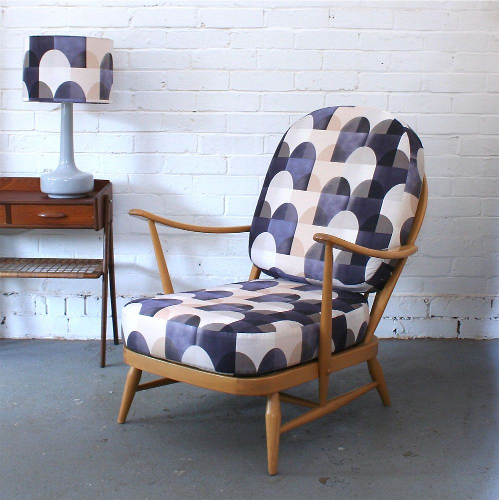 Winter's Moon — Vintage Ercol Windsor Chair in Viaduct by