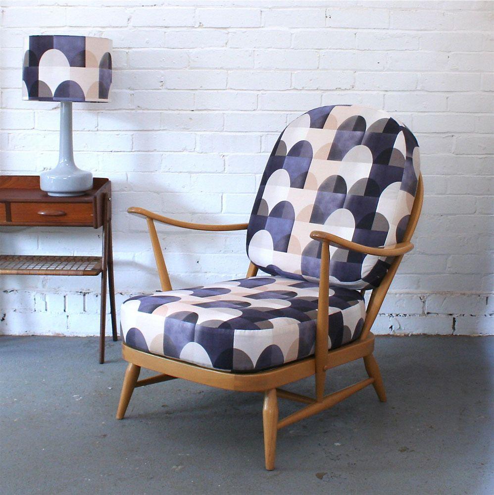 Winter's Moon  Vintage Ercol Windsor Chair in Viaduct by Imogen Heath