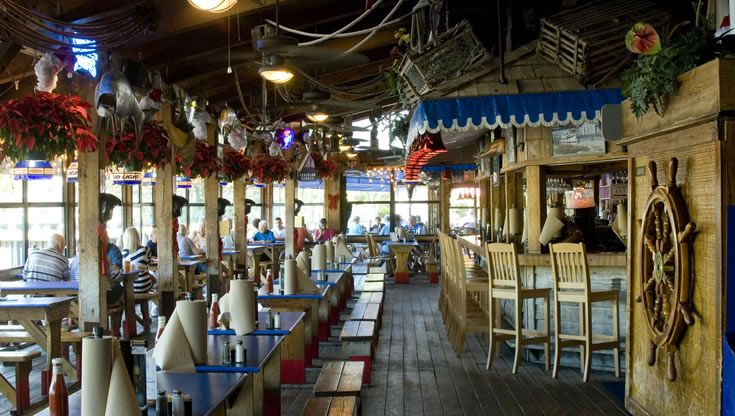 Sarasota Favorite Restaurants Phillippi Creek Oyster Bar Waterfront Restaurant