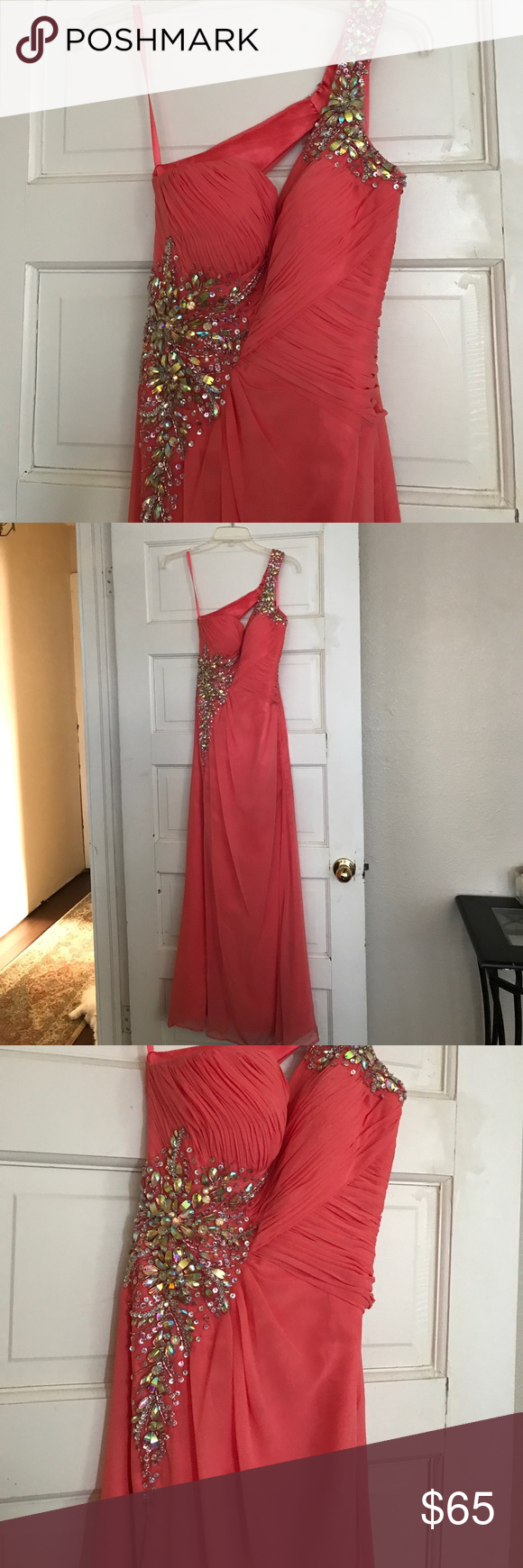 Beautiful formal prom dress like brand new condition coya