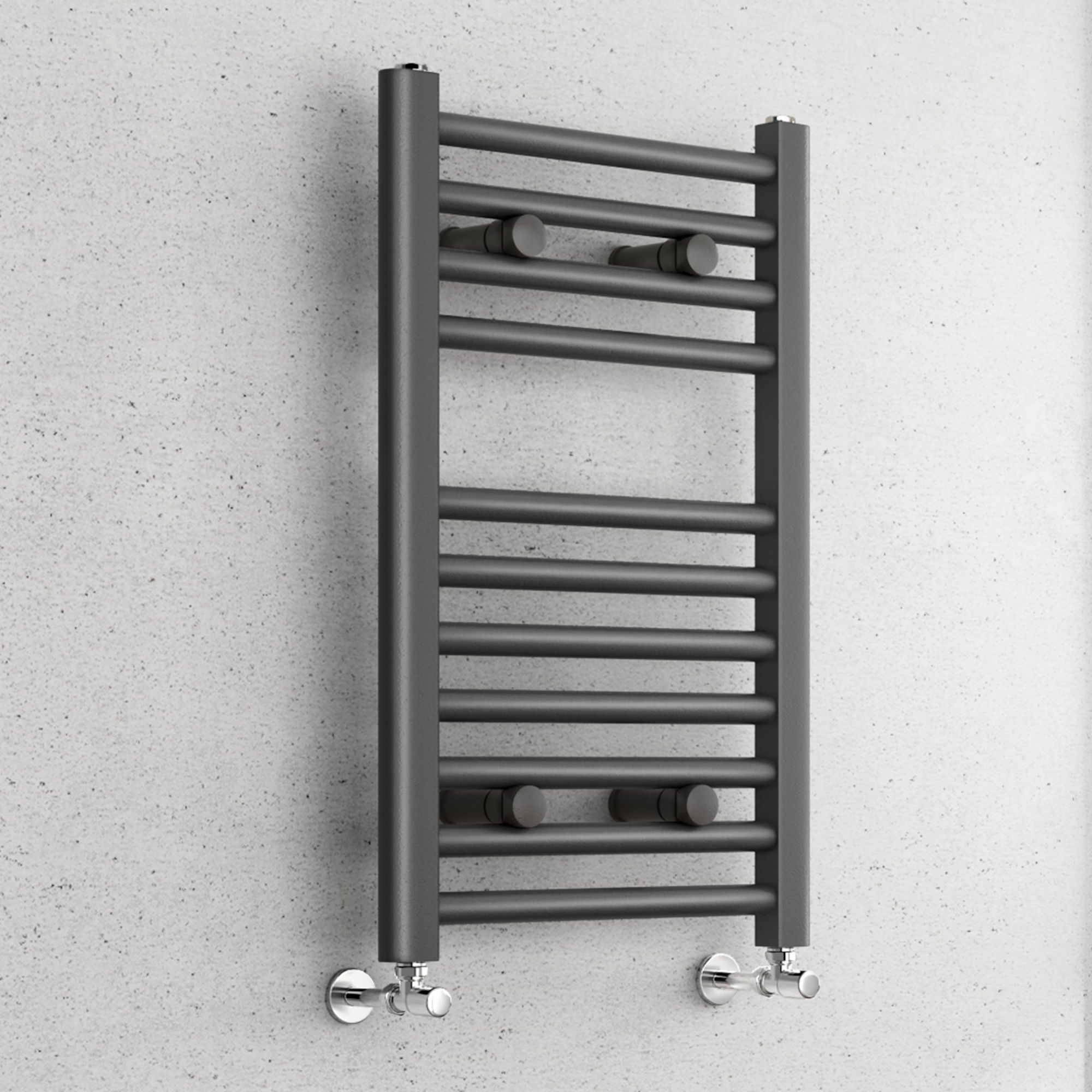 Small Anthracite Towel Radiator Heated Rail