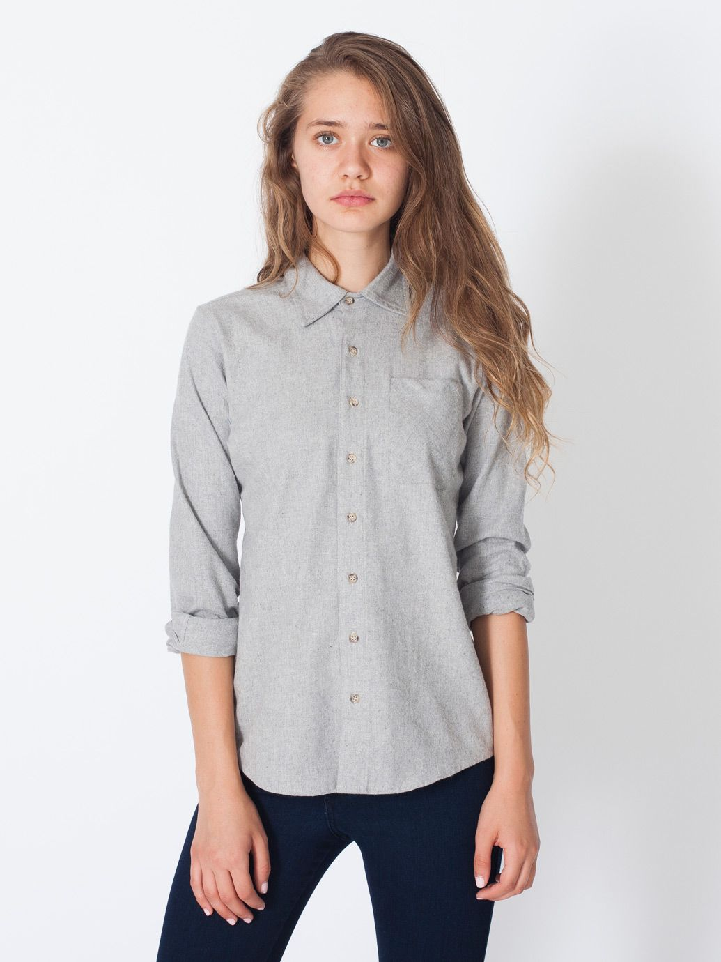 Unisex Flannel Long Sleeve Button Up Long Sleeves Womens