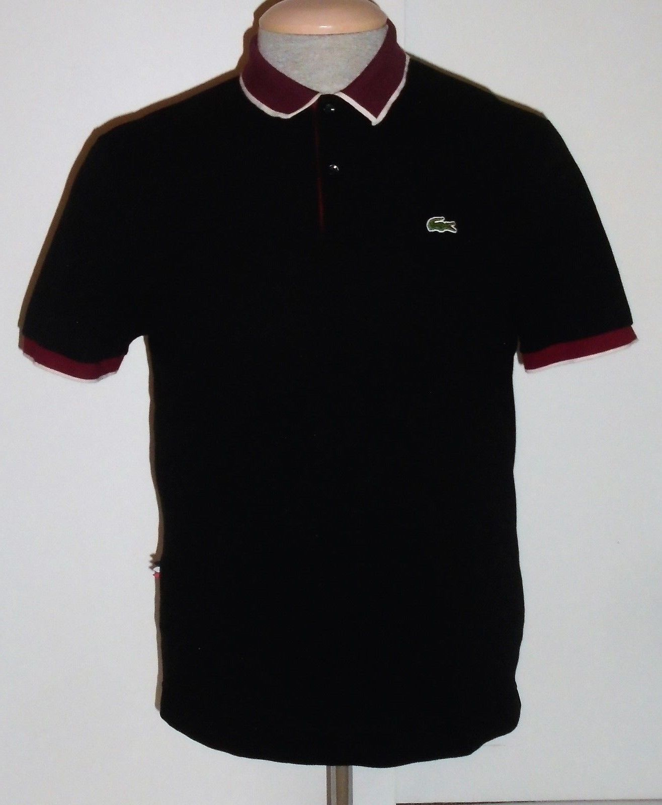 Lacoste live gator logo retro black short sleeve polo shirt mens 6 gator logo retro black short sleeve polo shirt mens 6 sciox Images
