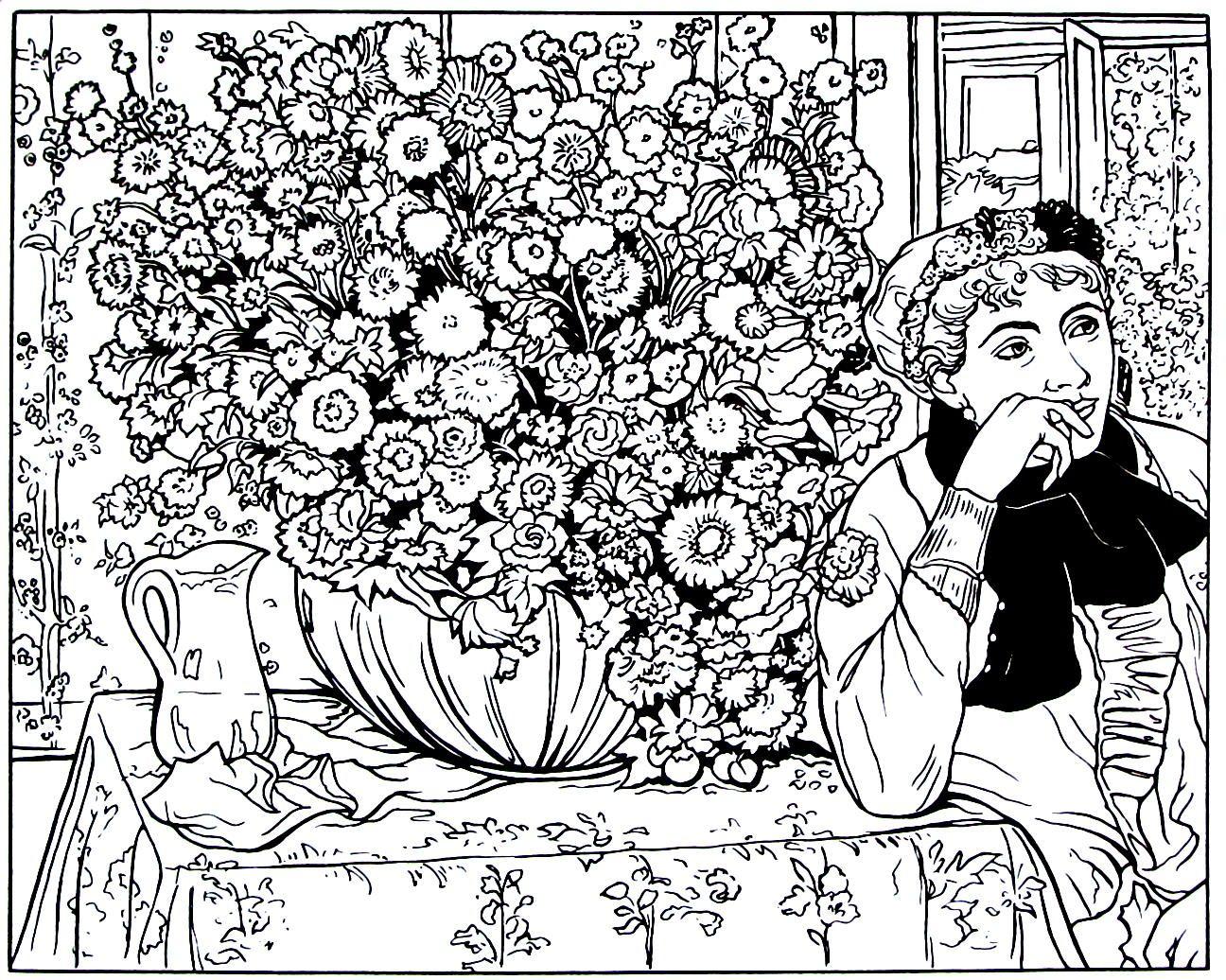 Excelente Libro De Crisantemos Para Colorear Fotos - Enmarcado Para ...