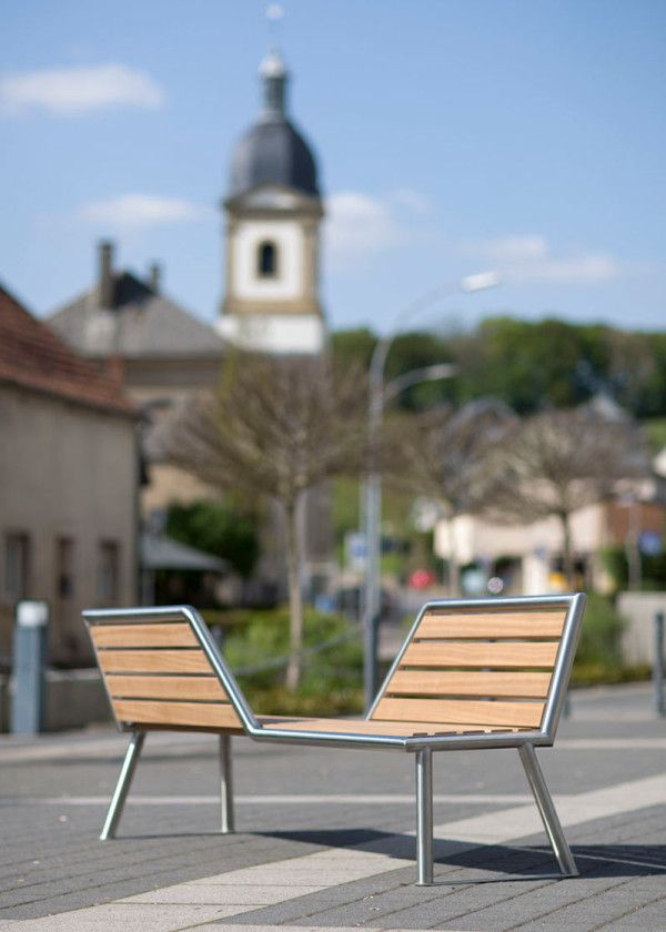 Public Park Benches Part - 32: Vis A Vis: A Park Bench With Opposing Views